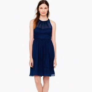 BLACK J. Crew Megan Silk Chiffon Dress